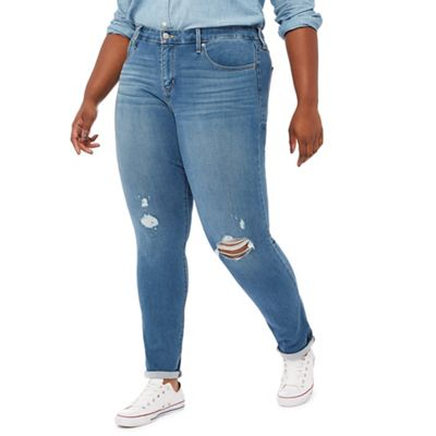 50bb678df4b Levi's Blue mid wash '311' shaping plus size skinny jeans | Debenhams