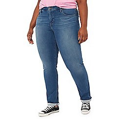 Levi's - Blue mid wash '314' plus size shaping straight jeans
