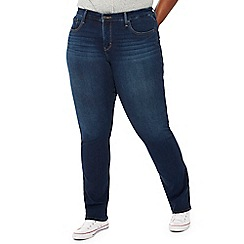 Levi's - Navy dark wash '314' plus size shaping straight jeans