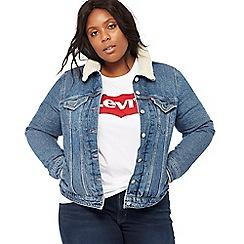 Levi's - Blue 'Trucker' plus size denim jacket