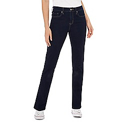 Levi's - Dark blue '312' dark wash straight shaping jeans