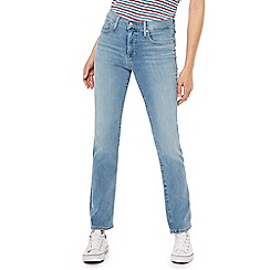 Levi's - Blue light wash '314' shaping straight jeans
