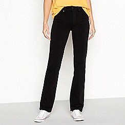 Levi's - Black cotton blend '314 Shaping' straight leg jeans