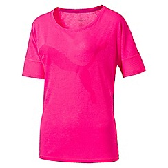 Puma - Women's Bright pink Loose t-shirt