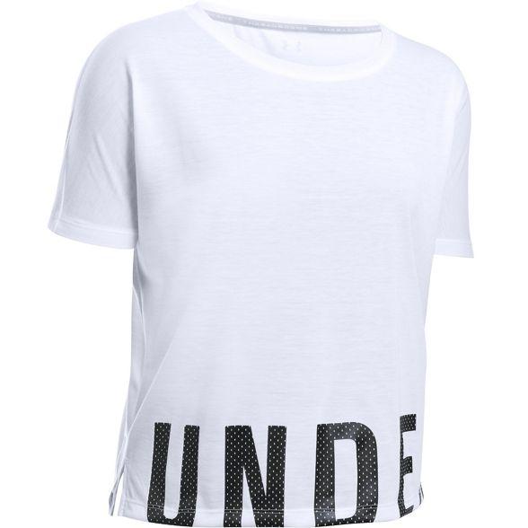 logo wordmark oblong hem Armour t White Under shirt lockup qzpTxUI