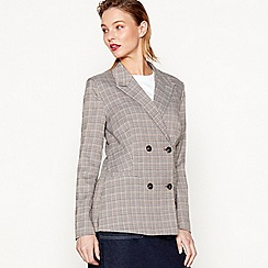 Moves - Brown 'Bressia' check blazer