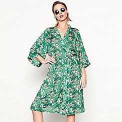 Moves - Green 'Briska' floral print kimono