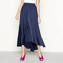 Moves - Navy 'Hala' side split midi skirt