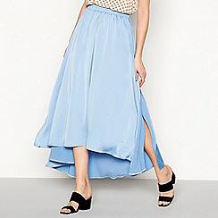 Moves - Blue satin 'Hala' high low skirt