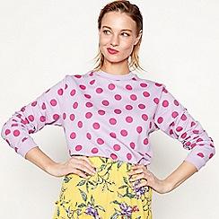 Moves - Mauve 'Samilla' spot print sweatshirt