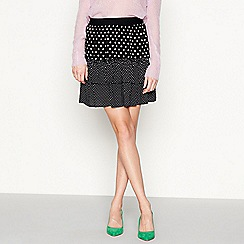 Moves - Black 'Dassy' spot print frill mini skirt