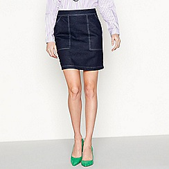 Moves - Blue 'Magan' denim mini skirt