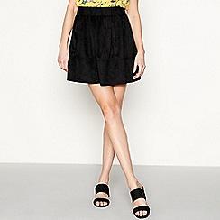 Moves - Black 'Kia' suedette mini skirt