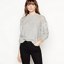Vero Moda - Grey 'Fringi' fringe tassel jumper