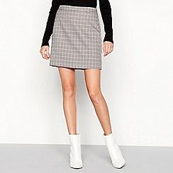 Vero Moda - Grey check print 'Kamma' mini skirt