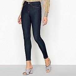 Vero Moda - Dark blue stretch cotton high rise skinny jeans