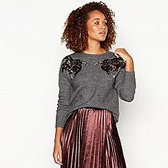 7d211778d975 Vero Moda - Grey sequin motif jumper