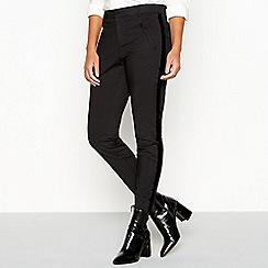 Vero Moda - Black glitter trim tailored trousers