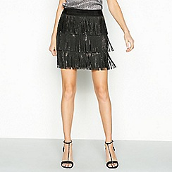 Vero Moda - Black 'Shake' diamante mini skirt