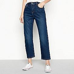 Noisy may - Blue Mid Wash 'Liv' Straight Leg Jeans