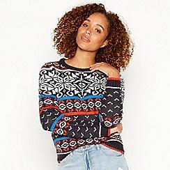 Noisy may - Multicoloured 'Tassy' snowflake knit jumper