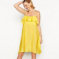 Moves - Yellow 'Ola' frill trim camisole dress