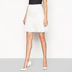 Moves - Monochrome polka dot print 'Heina' mini skirt
