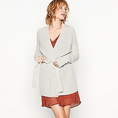 Moves - Light grey 'Senona' knitted cardigan