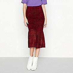 Moves - Cherry red 'Julan' midi skirt