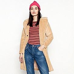 Moves - Taupe Longline 'Ranee' Teddy Coat