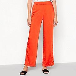 Vila - Orange Spot Print Satin Loose Fit 'Juana' Trousers