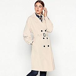 Vila - Natural belted trench coat