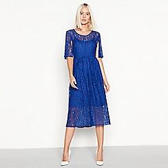 Vila - Bright blue lace 'Lissi' midi dress