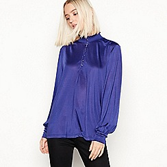 Vila - Bright blue 'Seeba' high neck blouse