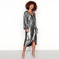Vila - Silver 'Vilimma' metallic dress