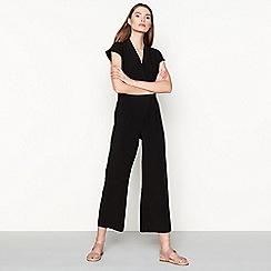 Minimum - Black cap sleeve 'Elvira' wide leg jumpsuit