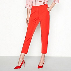 Minimum - Red 'Halle'tailored fit cropped trousers