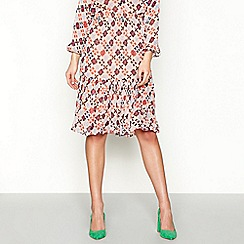 Stella Nova - Multi-coloured 'Garden' floral printed midi skirt