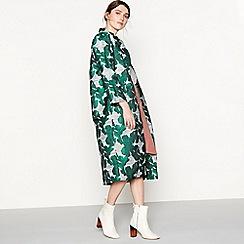 Six Ames - Green 'Gina' floral print coat
