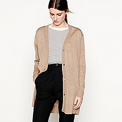 Six Ames - Brown 'Sawa' wool longline cardigan