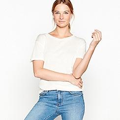 Six Ames - Cream merino wool t-shirt