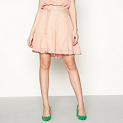 Lolly's Laundry - Pink satin water drop pleated godet skirt