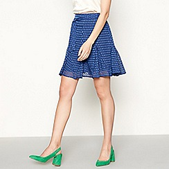 Lolly's Laundry - Blue satin water drop pleated godet skirt