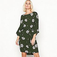 Minimum - Green floral print 'Josefine' shift dress