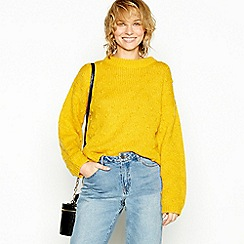 Minimum - Mustard bobble knit jumper