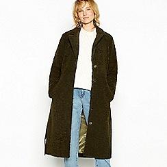 Minimum - Dark green 'Nima' longline coat