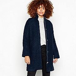 Minimum - Navy high neck 'Palma' coat