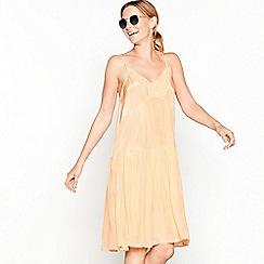 Stella Nova - Peach tiered V-neck mini dress