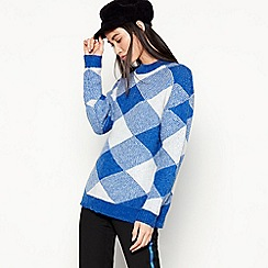 mbyM - Bright 'Rida' Blue Check Knit
