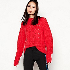 mbyM - Red 'Pria' Knitted Jumper